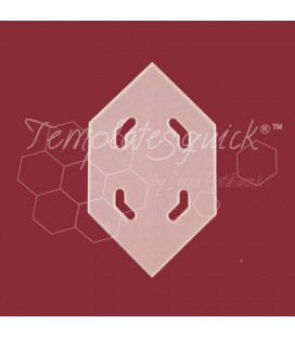 Plantilla Hexágono Alargado de Plástico Templatesquick®™