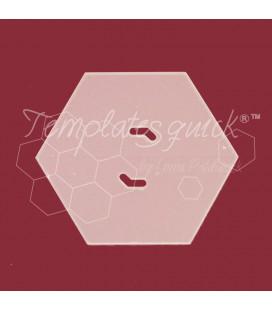 Plantilla Hexagono de Plastico Templatesquick®™60 piezas el paquete y 5 mm