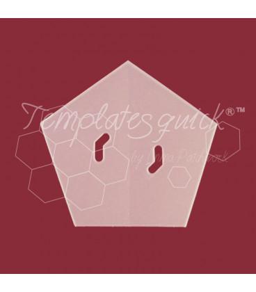 Plantilla Pentagono de Plastico Templatesquick®™50 piezas el paquete y 9,75 mm