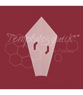 Plantilla Plato Dresden Ángulo 12 Pétalos de Plástico Templatesquick ®™