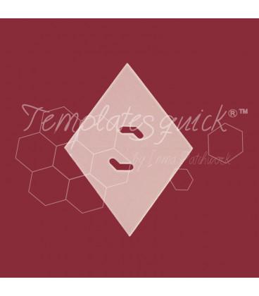 Plantilla Rombo 60º de Plastico Templatesquick®™ 50piezas el paquete y 9,75 mm