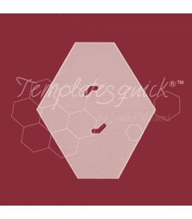 Plantilla Hexágono cortado de Plástico Templatesquick®™