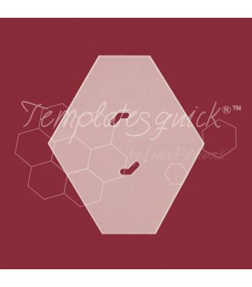 Plantilla Hexágono cortado de Plastico Templatesquick®™