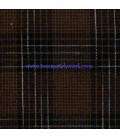 Tela Japonesa tramada 459 Cuadrados Marrón Negro