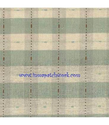 Tela Japonesa tramada 1181 Cuadradas Crema azulada