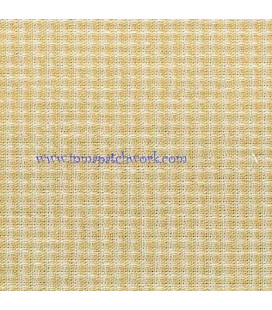 Tela Japonesa tramada 1224 Cuadro Vichi amarilla
