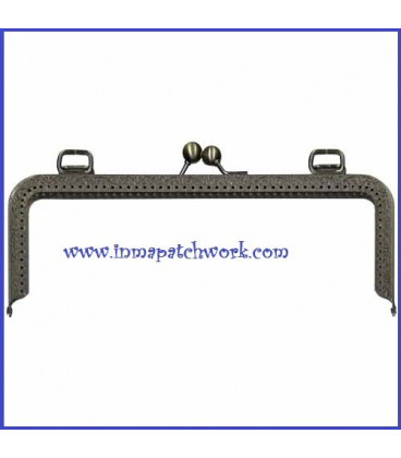 Boquilla bolso oro viejo labrada rectangular 24 x 9 cm