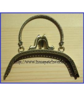 Boquilla bolso oro viejo labrada zapatos16 x 6cm