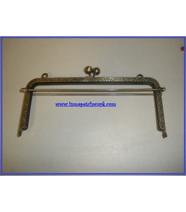 Boquilla Bolso oro viejo recta con barras 20.5 x 9 cm