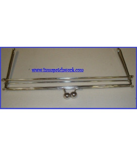 Boquilla bolso plateada Sofia rectangular 30x13 Cm.