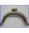 Boquilla monedero oro viejo labrada ovalada6cm