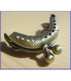 Boquilla monedero oro viejo labrada 3.5cm