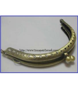 Boquilla monedero oro viejo labrada ovalada 9,5 cm