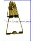 Boquilla monedero oro viejo labrada rectangular 8.5 X 4.5cm