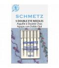 Agujas Schmetz80 Hilo metalico-2 ojos