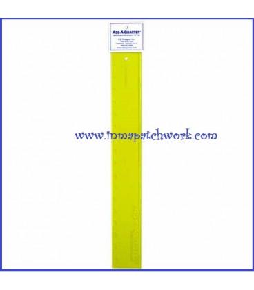 Regla ADD-AQUARTER 12 inchas 1/4 Pulgadasc1125