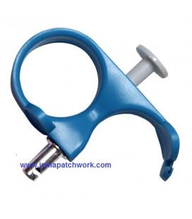 Estirador aguja acolchado Azul